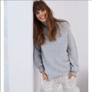 Aerie Gray Boucle Sweater